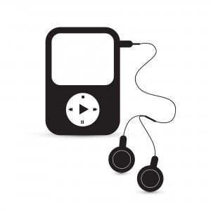 Black Vector Mp3 Player Illustration